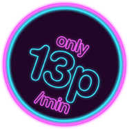 only 13p per minute